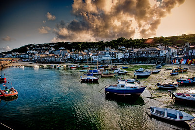 Mousehole at Sunset.
