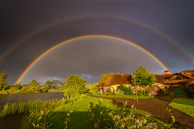 Rainbows at The Green Dragon Hobbiton Movie Set