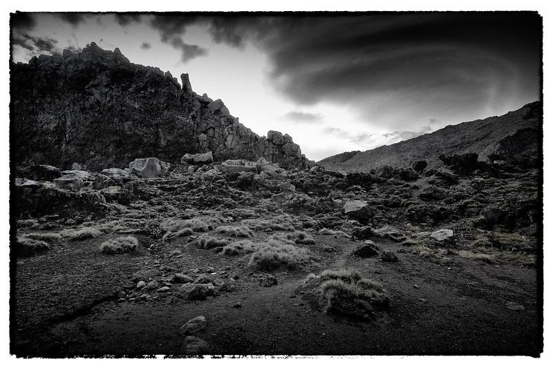 Towards the Black Gate<br /> Whakapapa<br /> Tongariro National Park