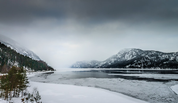 The Stunning Beauty of Norway in Winter Lake Tinnsjå Rjukan Telemark Norway