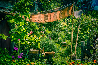 The Joy of Summer and Flowers Hobbiton Movie Set Matamata New Zealand