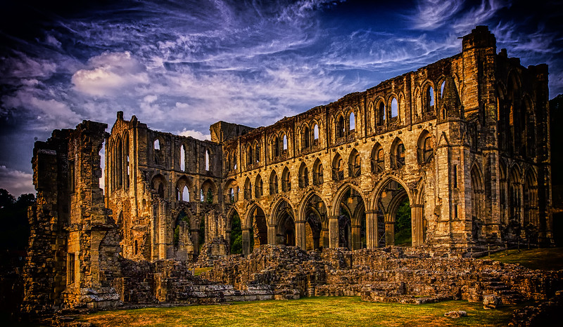 One can only stand in awe and wonder<br /> What must have been<br /> Rievaulx Abbey<br /> Yorkshire