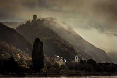 The Castle in the Clouds Rhine River Filsen Germany