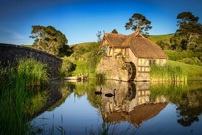 The Mill at Sunrise Hobbiton Movie Set Matamata, New Zealand.