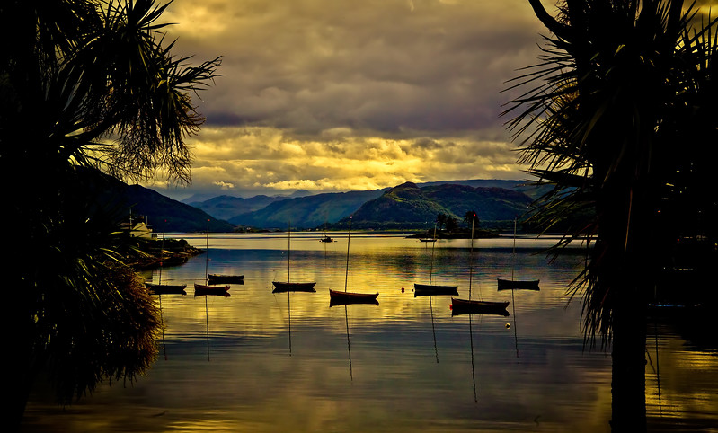 Sunset at Plockton. One of the best places to visit in The Highlands.