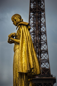 On visiting the Eiffel Tower, we were distracted by gold at the Trocadero Paris, France