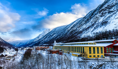 Industrial Architecture in the Landscape Rjukan Norway