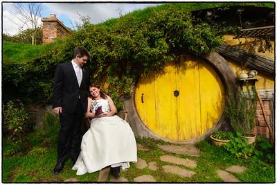 Kate & Simon Married at Hobbiton Movie Set 29/08/12