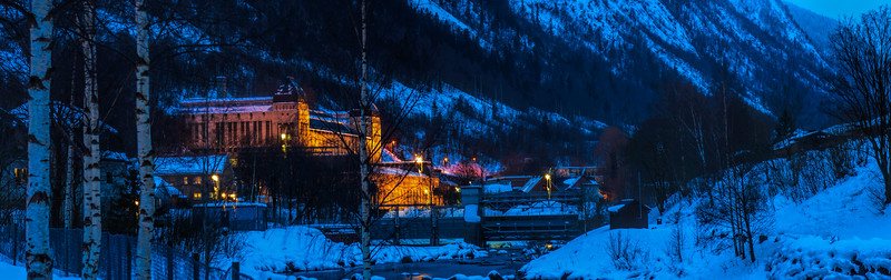 Vemork II at Night<br /> Rjukan<br /> Norway