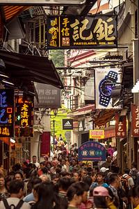 A quiet stroll in Macau.