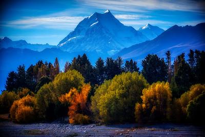 Autumn near Lake Pukaki