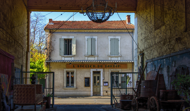 Exploring the antique markets at L'Isle sur la Sorgue, Provence.