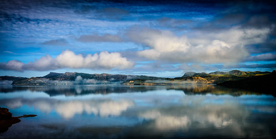 The mist cleared to give us a glimpse into magic Golden Bay New Zealand