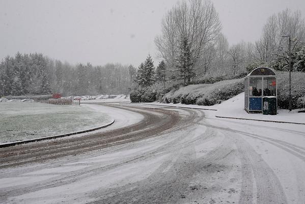 Sudden snowfall hampers travel