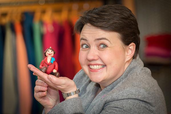 Ruth Davidson visits Hawick Knitwear