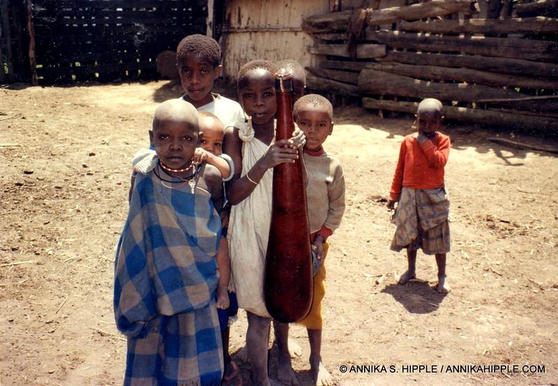 Maasai children in the Mount Meru foothills near Arusha, Tanzania
