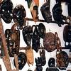 Masks for sale, Natitingou, Benin