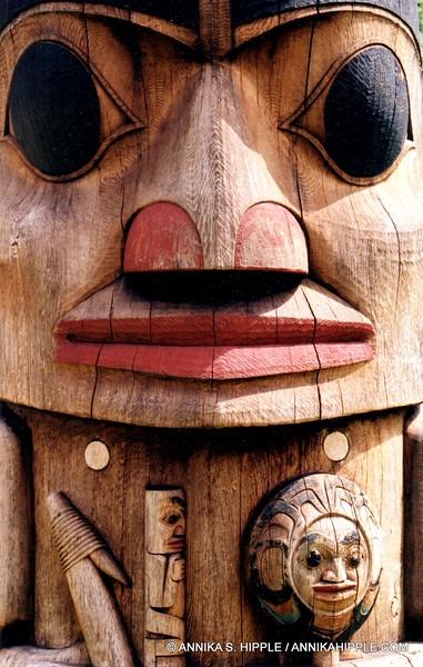 Totem pole closeup, Sitka National Historical Park, Alaska