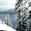 Late-spring snow at Crater Lake, Oregon