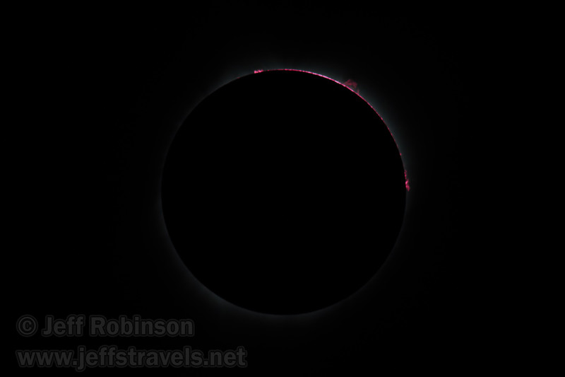 The sun is just about to reappear following totality, causing the pink ring on the upper-right of the sun. (8/21/2017, 6152 Northwest Danube Dr., Madras eclipse trip)<br /> EF400mm f/5.6L USM +2x III @ 800mm f11 1/1000s ISO100