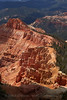 Red-oranges, pinks, and whites of the amphitheatre in partial sun (9/2/2013, Chessmen Ridge Overlook, Cedar Breaks NM, 2013 Utah)<br /> EF24-105mm f/4L IS USM @ 60mm f/8 1/500s ISO200