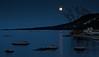 Moonrise Over Blue Mountain