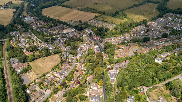 Temple Ewell from Above
