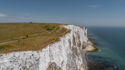 White Cliffs of Dover from above