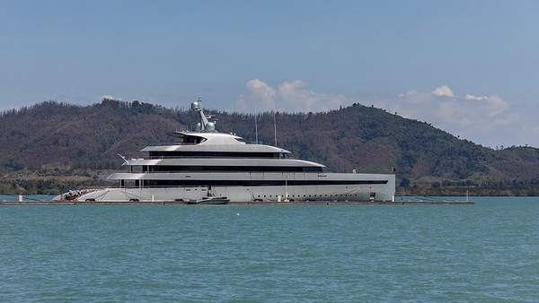 Superyacht at Yachthaven Phuket