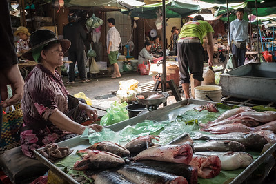 Kandal Market fish vendor