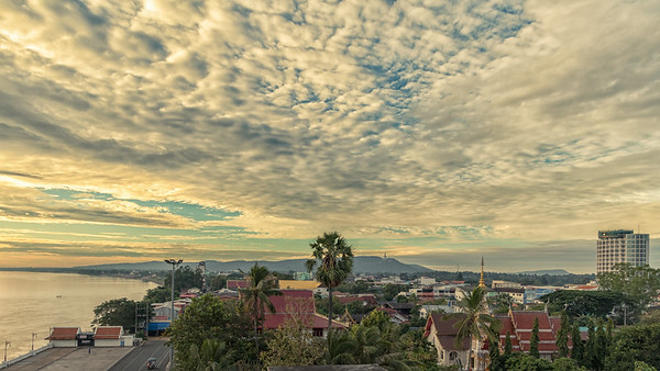 Dawn over the Mekong-Mukdahan