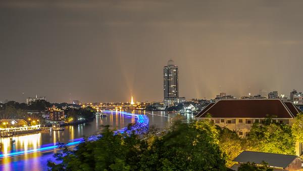 Chao Phraya River at night -Bangkok