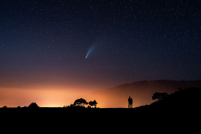 Cometa NEOWISE en El Paso