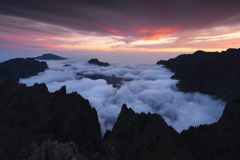 Mar de nubes en la Caldera de Taburiente