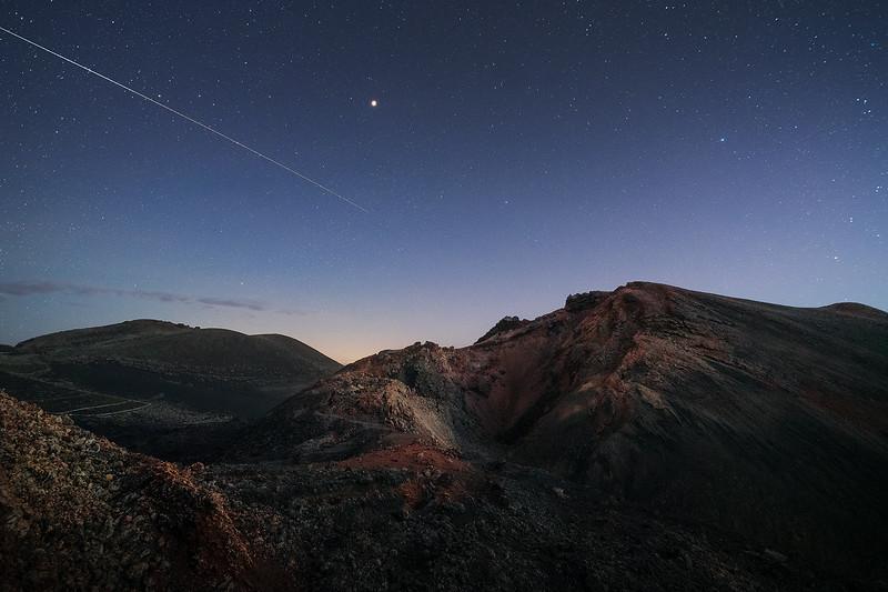 ISS sobre el Volcán Teneguía