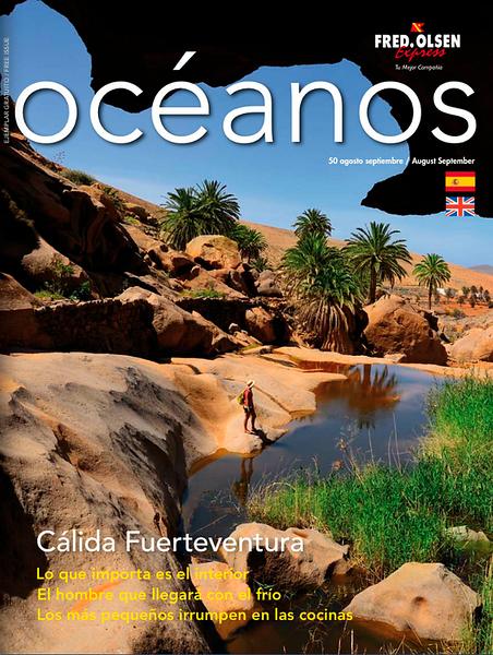 """Portada en la Revista """"Océanos"""" de Fred Olsen"""