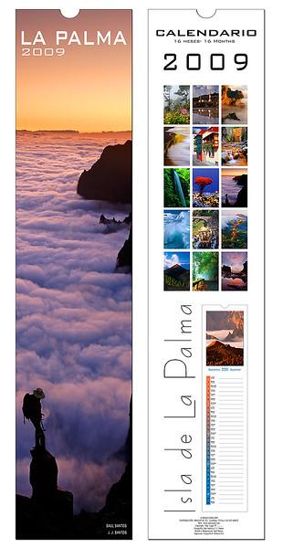 Publicaciones de calendario de La Palma con mis fotos, inenterrumpidamente desde el año 2002