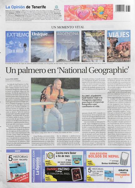 Reportaje y entrevista en LA OPINIÓN DE TENERIFE