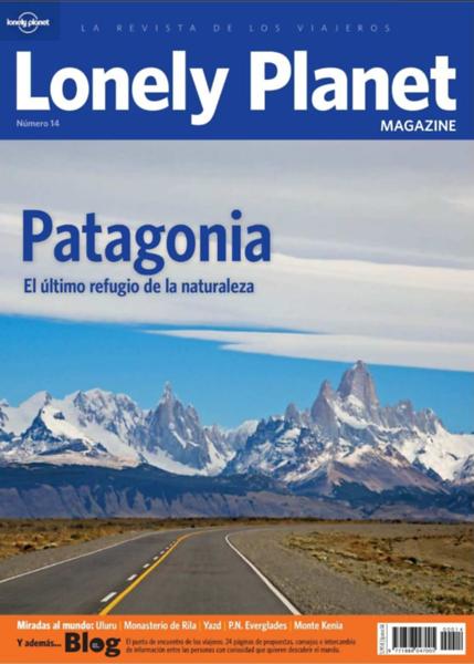"""Portada y reportaje de Patagonia en la revista """"Loney Planet"""" España"""