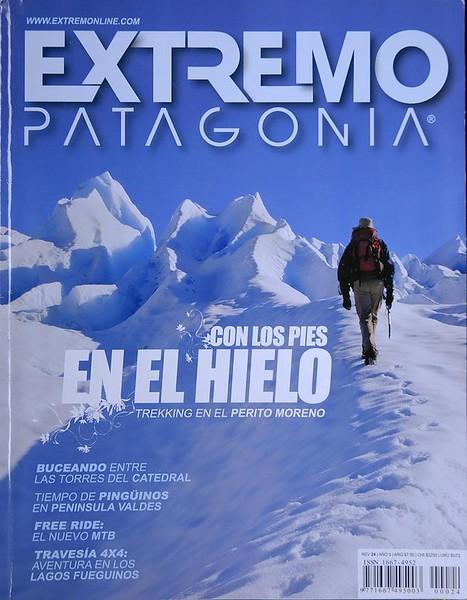 """Portada y Reportaje en la Revista """"Extremo Patagonia"""" Argentina."""