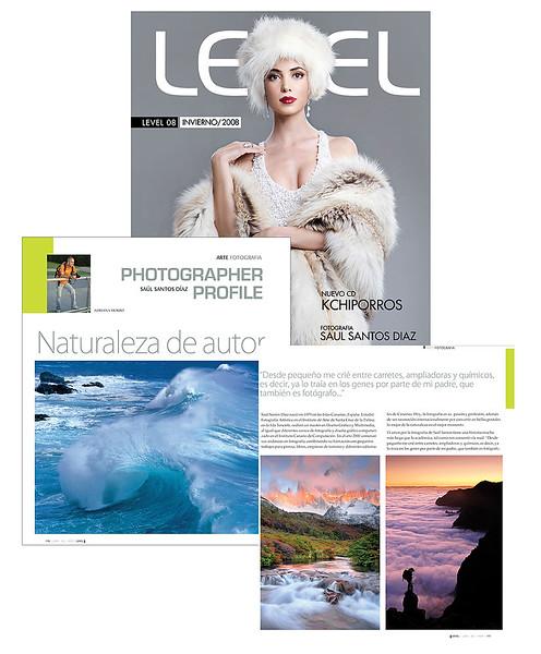 """Entrevista y reportaje en la revista """"Level"""" Uruguay"""