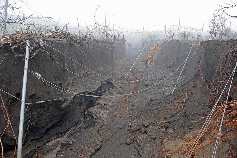 Riadas en diciembre de 2009, como consecuencia del Incendio de Fuencaliente del 2 de agosto de 2009