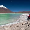 Laguna Verde y Volcán Licancabur. Reserva nacional de fauna andina Eduardo Abaroa. Bolivia