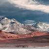 Volcán Ojos del Salado 6.893m. Hace frontera entre Argentina y Chile.