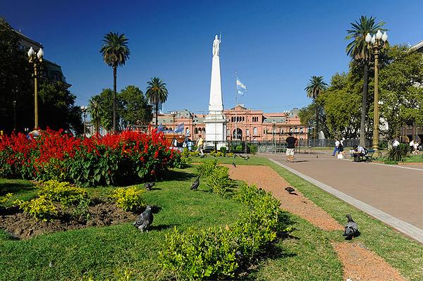 Plaza de Mayo y Casa Rosada, Buenos Aires. Argentina