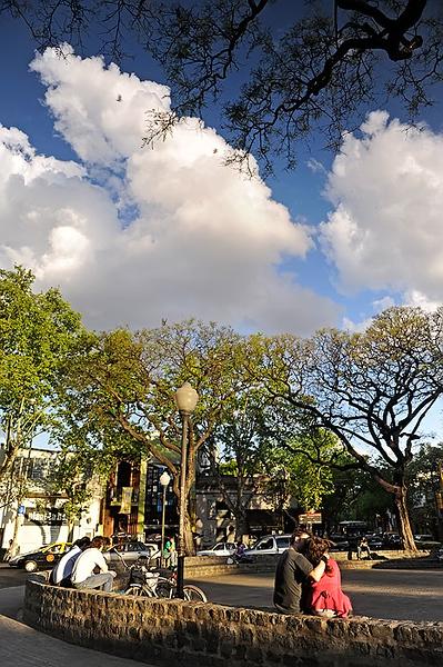 Plaza Cerrano o Cortazar, Palermo, El Rosedal, Buenos Aires. Argentina