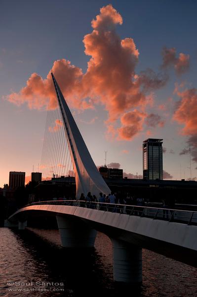 Puente de la Mujer, Puerto Madero, Buenos Aires. Argentina