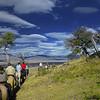 Cabalgata a caballo, Parque Nacional de Los Glaciares. Pagagonia Argentina