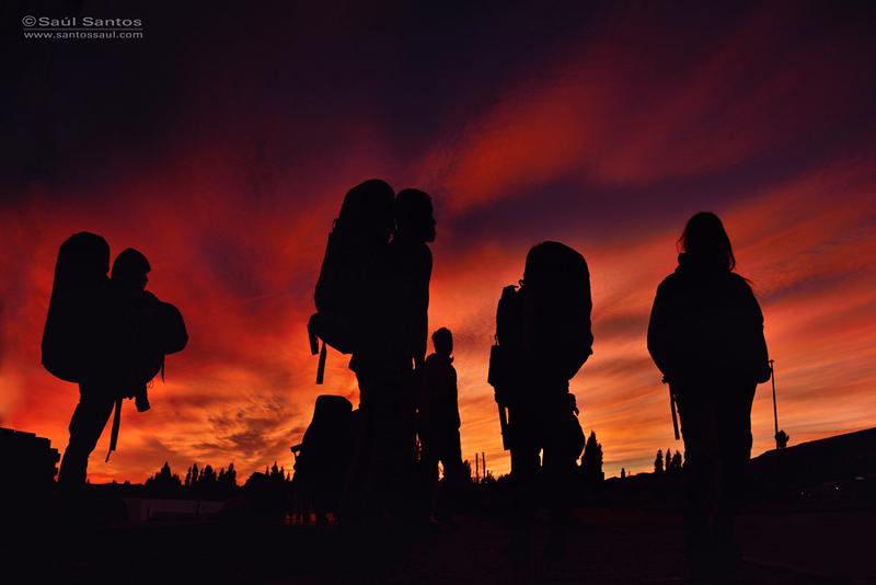 Amanecer en la estación de bus de Calafate, Patagonia Argentina