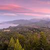 Panoramica desde el Cerro Campanario y Bariloche de Fondo, Parque Nacional Nahue Huapi, Rio Negro, Region de Los Lagos. Patagonia Argentina.